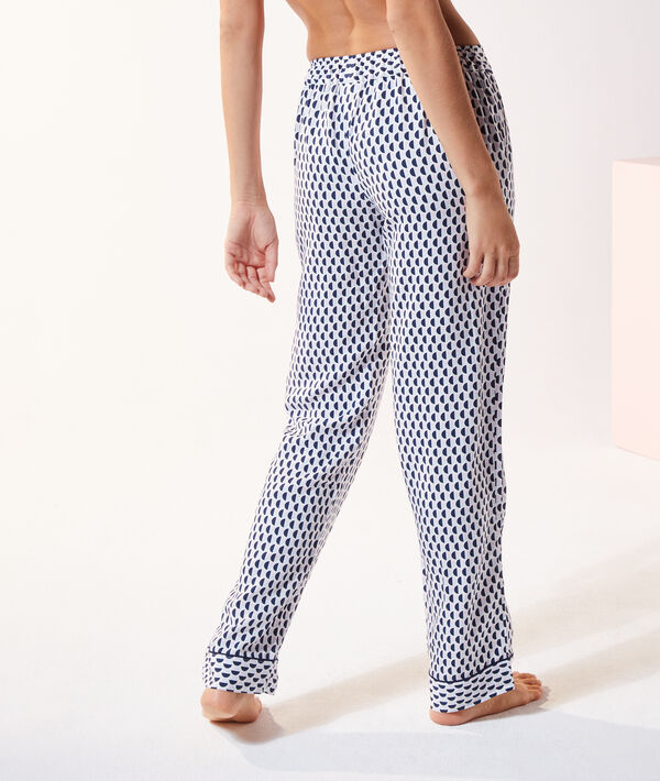 Атласные брюки с геометрическим принтом;${refinementColor}