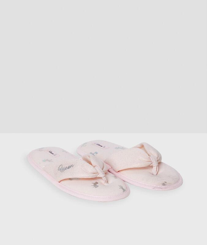 Тапочки-вьетнамки розовый.