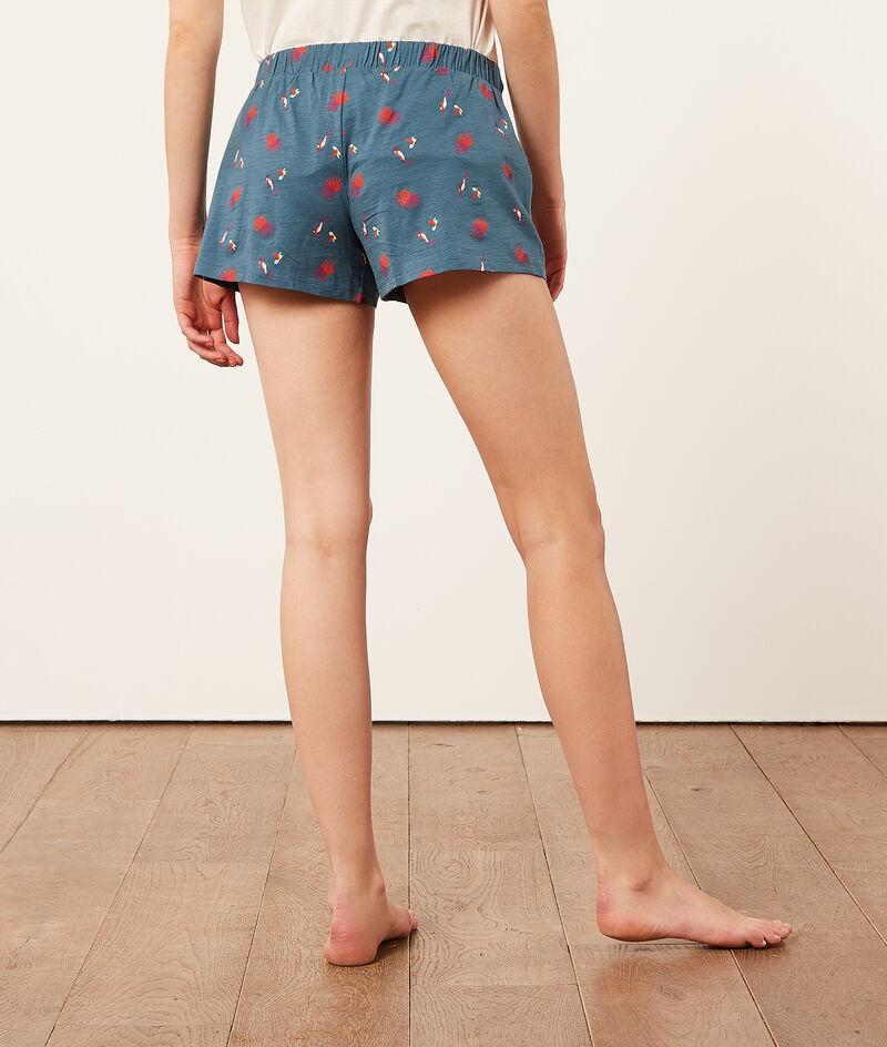 Хлопковые шорты с тропическим принтом;${refinementColor}