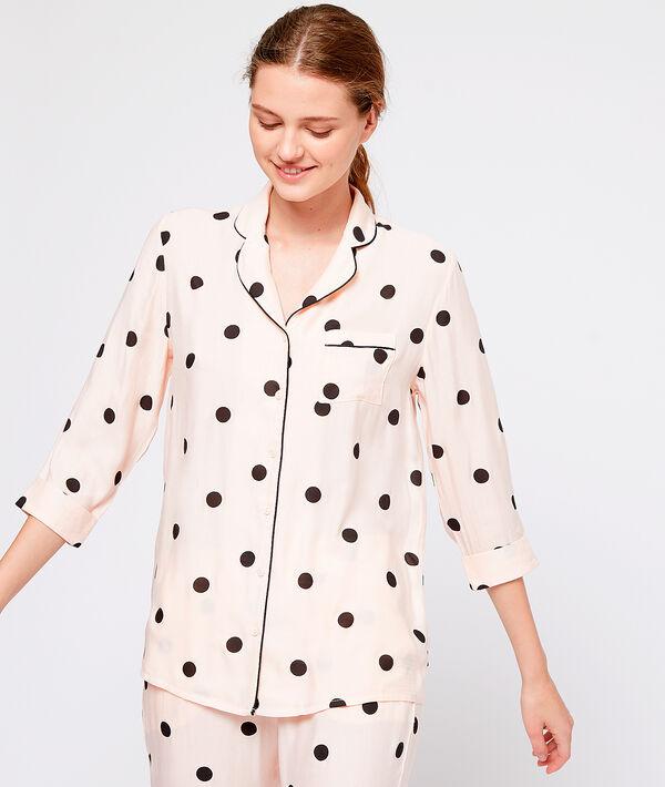 Пижамная сорочка в горох