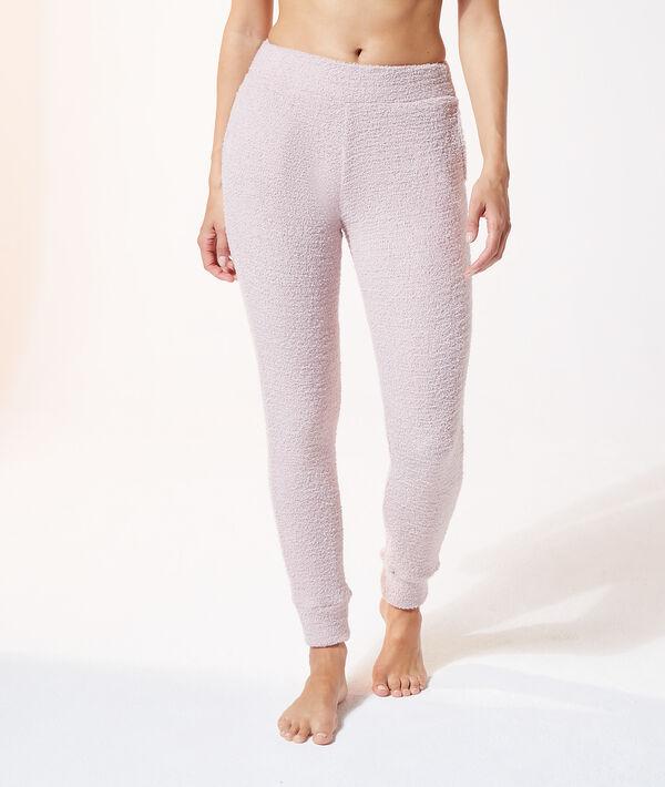 Пижамные брюки из текстурной ткани;${refinementColor}