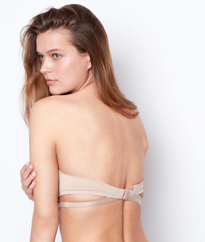 Бретельки открытая спина телесный.