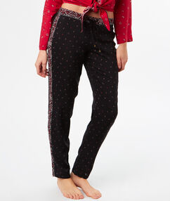 Струящиеся брюки с принтом в стиле бандана чёрный.