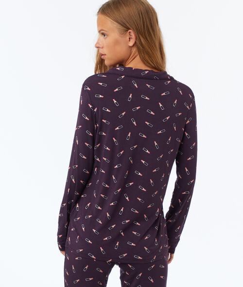 Пижамная рубашка с повторяющимся рисунком