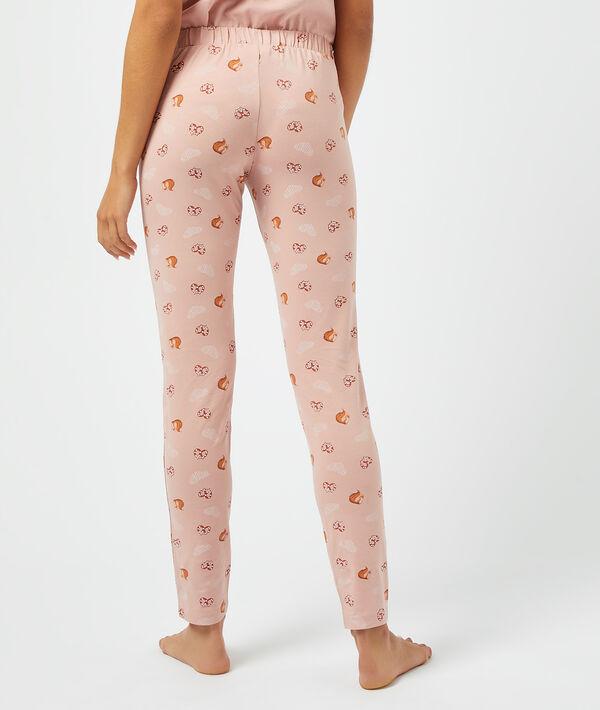Пижамные брюки с принтом белок и кренделей;${refinementColor}