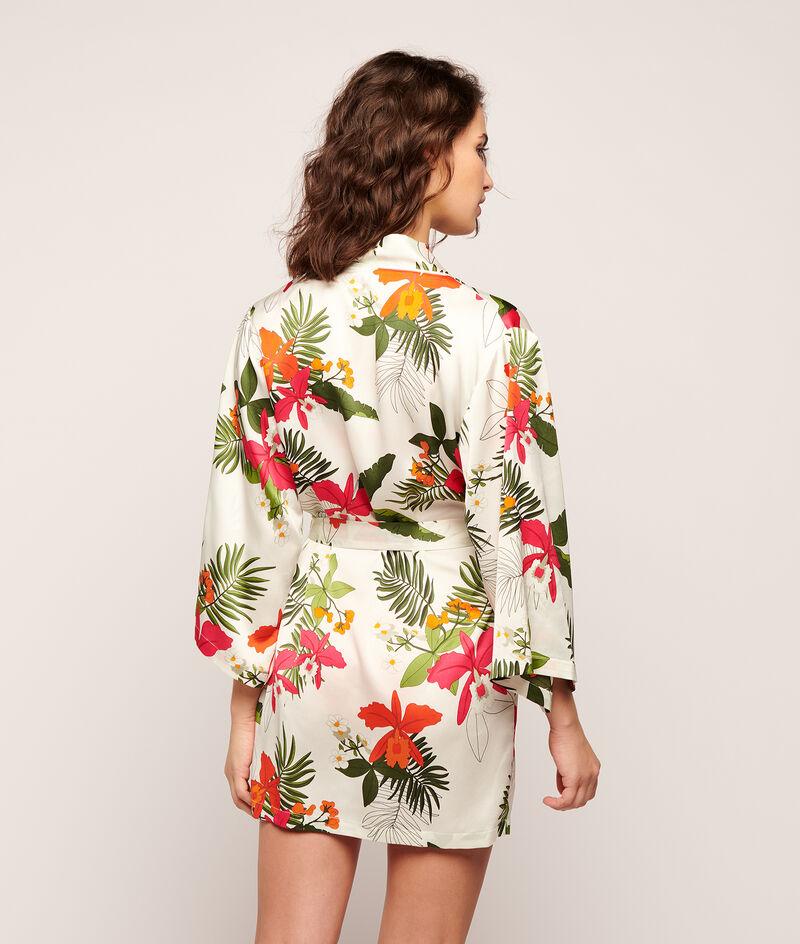Атласный халатик-кимоно с тропическим принтом;${refinementColor}