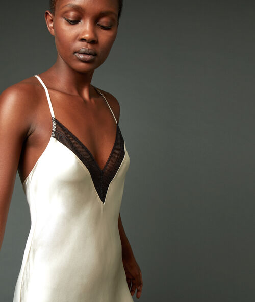 Ночная рубашка 100% шелк с лямками крест-накрест на спине