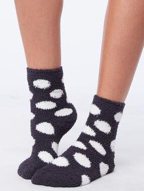 Носки с высокой посадкой антрацит.