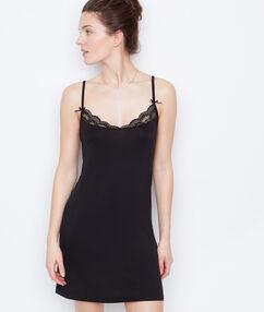 Ночная рубашка вискоза и кружево черный.