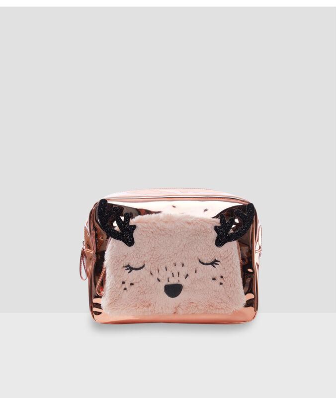 Косметичка в виде животного розовый.