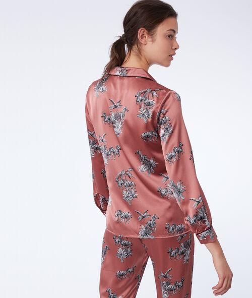 Пижамная рубашка с принтом с зебрами