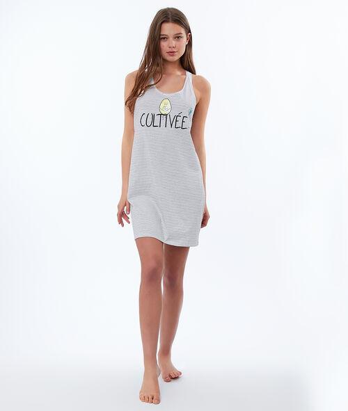 Ночная рубашка с принтом и надписью