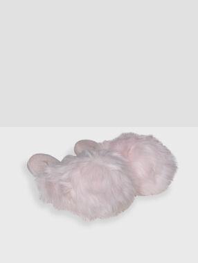 Тапочки, искусственный мех розовый.