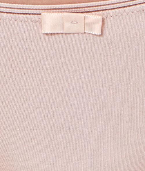 Трусики-шорты однотонные, ажурная полоска