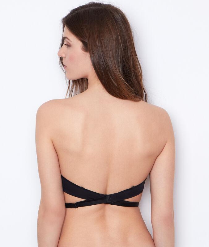 Бретельки открытая спина черный.