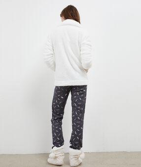 Пижама из 3 предметов с совами экрю.