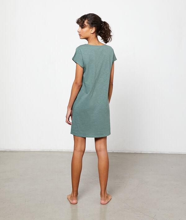Платье-футболка с надписью;${refinementColor}