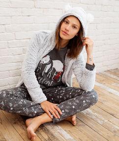Пижама тройка с надписью gris.