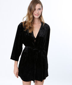 Халатик-кимоно из бархата noir.