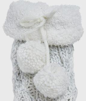 Плотные носки с утеплением серый.