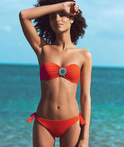 Трусики от купальника с этническим украшением оранжевый.