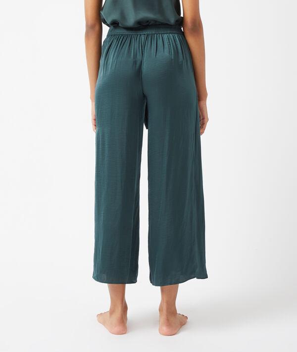 Укороченные атласные брюки с драпировкой;${refinementColor}