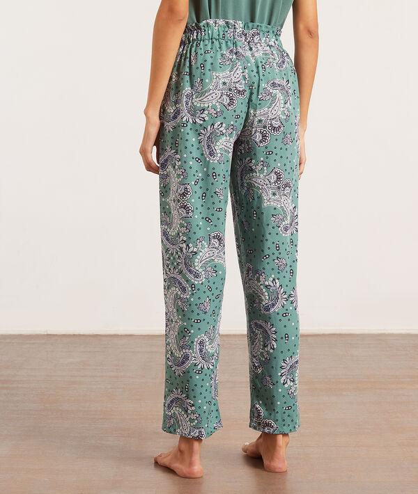 Пижамные брюки с принтом пейсли;${refinementColor}