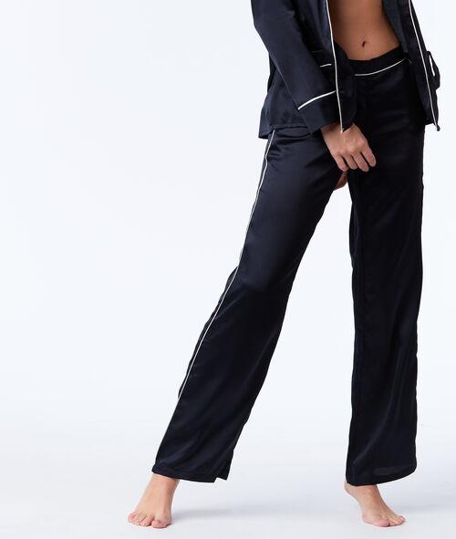 Атласные пижамные штаны в мужском стиле