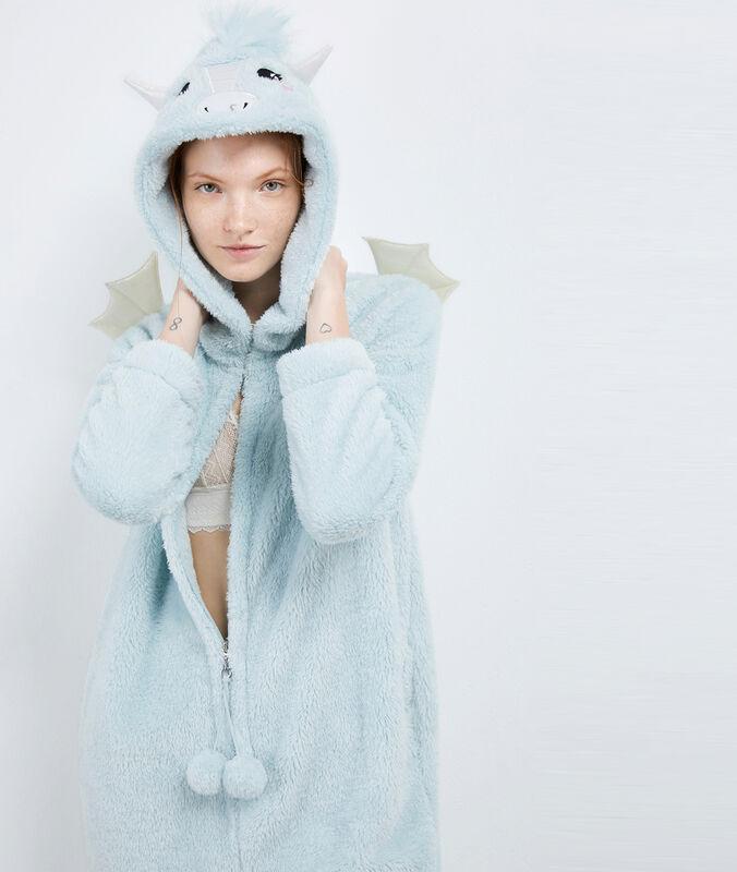 Пижама-комбинезон «дракон» голубой.