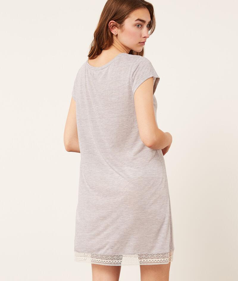 Платье с кружевной окантовкой;${refinementColor}