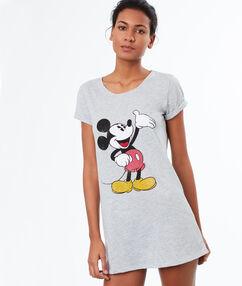"""Ночная рубашка с принтом """"микки маус"""" серый."""