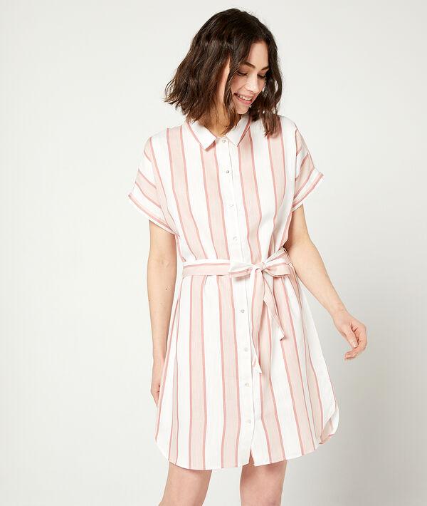 Платье-рубашка в полоску - LONGO - Розовый - XL фото