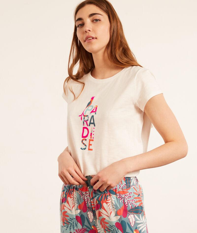 """Хлопковая футболка с принтом """"Рай"""";${refinementColor}"""