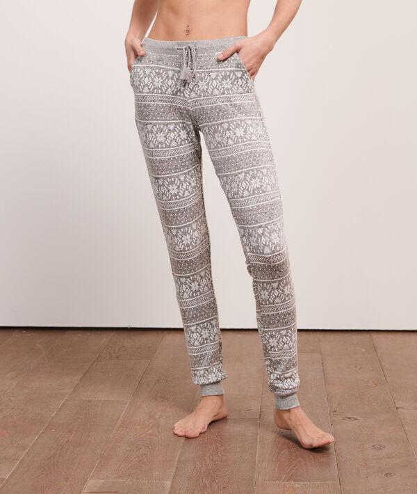 Пижамные брюки с нордическим принтом;${refinementColor}