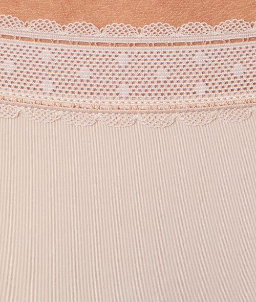 Трусики-шорты микроволокно и кружево
