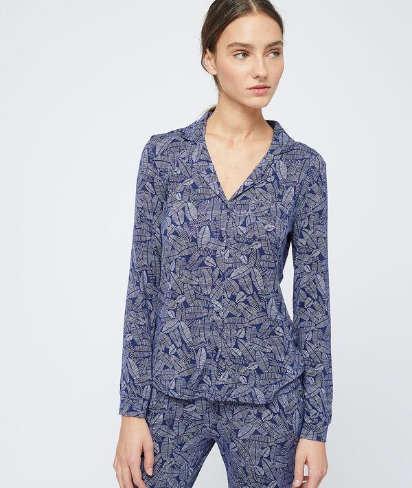 Пижамная рубашка с принтом - DONNA - Тёмно-синий - M фото