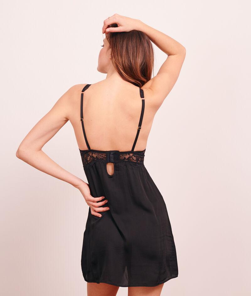Платье-сорочка с кружевным лифом-треугольником;${refinementColor}