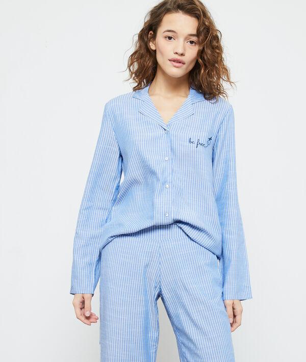 Пижамная рубашка с принтом - SIBIL - Синий - S