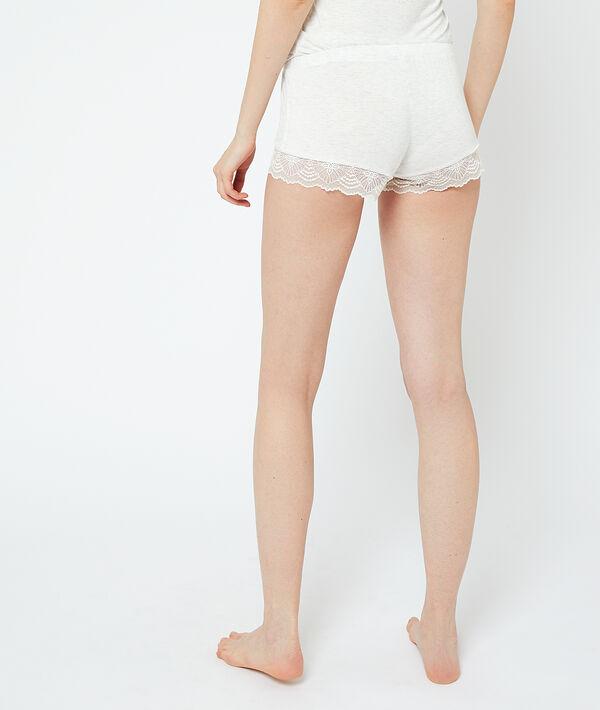 Пижамные шорты с кружевом по краю;${refinementColor}
