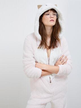 Пижама-комбинезон «кот» розовый.