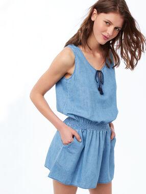 Регулируемая ночная рубашка голубой.