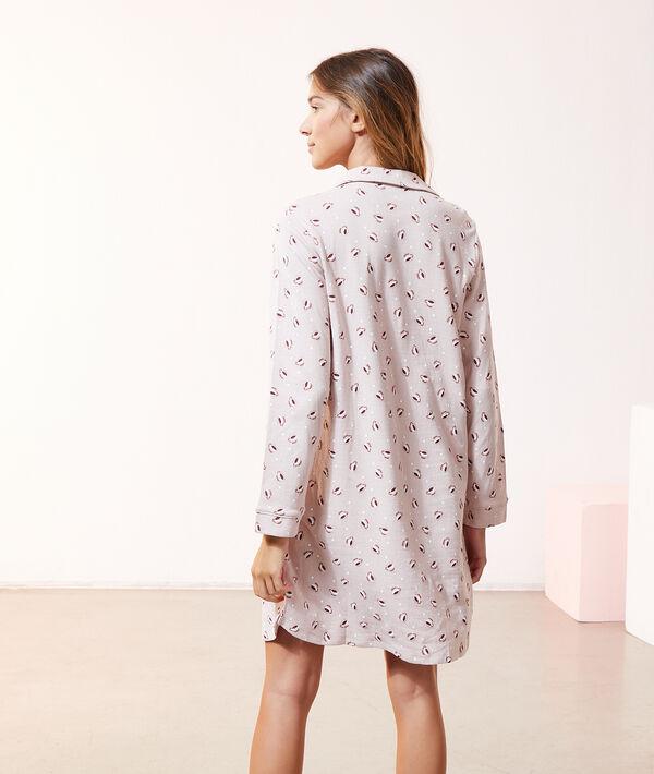 Платье-рубашка с принтом кофе☕;${refinementColor}