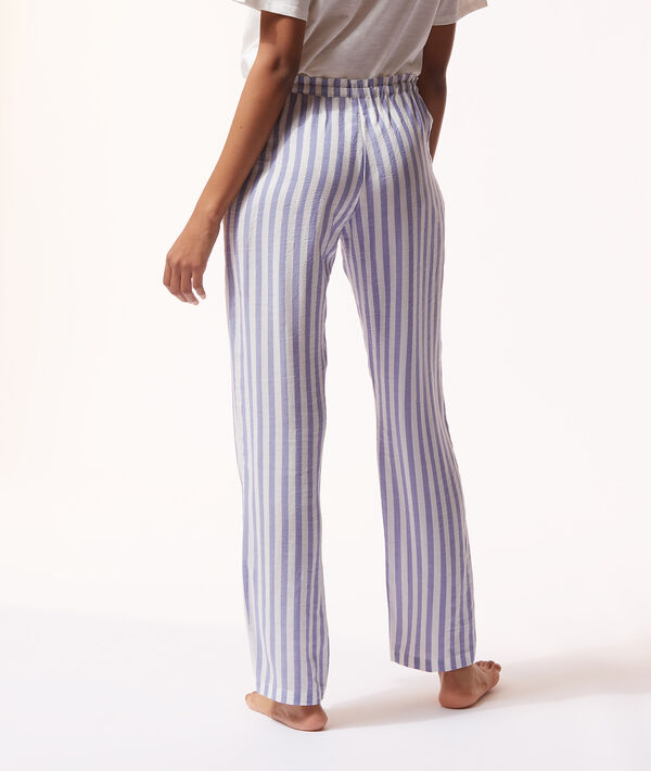 Пижамные брюки в полоску;${refinementColor}