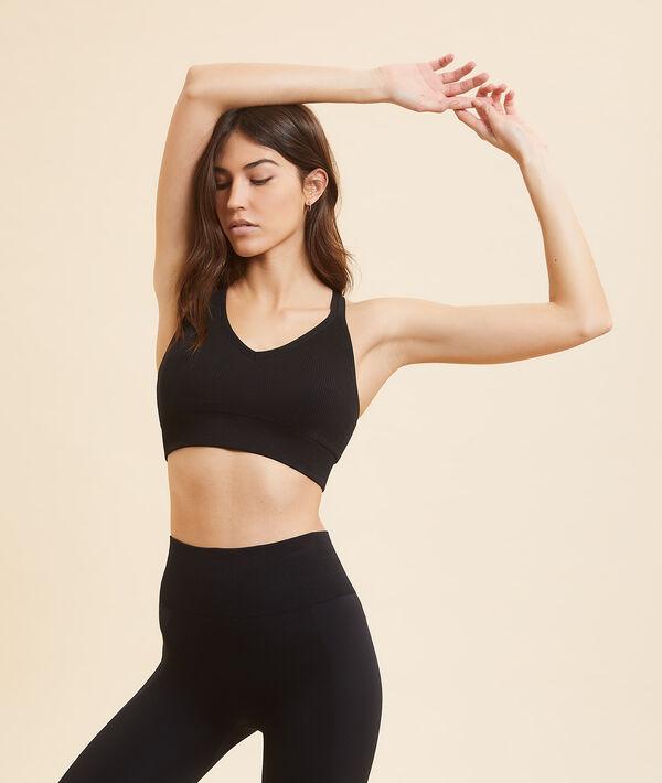Спортивный бюстгальтер для йоги - средняя поддержка;${refinementColor}
