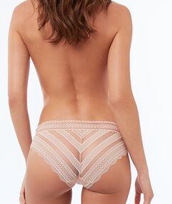 Culotte bi-matière élastique naturel.