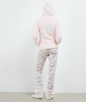 Пижама из 3 предметов с рисунком в виде оленей розовый.