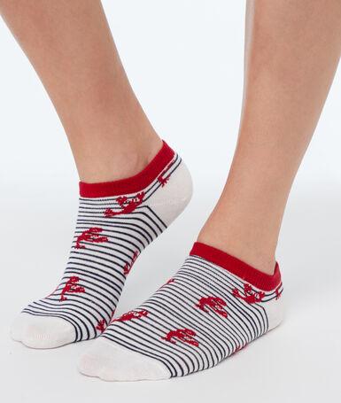 Оригинальные короткие носки экрю.