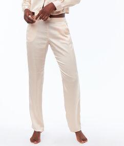 Атласные штаны пудрово-розовый.