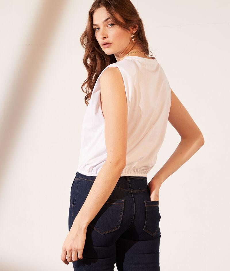"T-shirt avec épaulettes ""Lazy girl"""