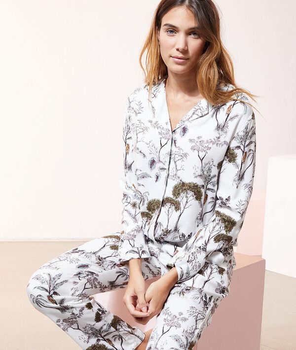 Пижамная рубашка с тропическим принтом